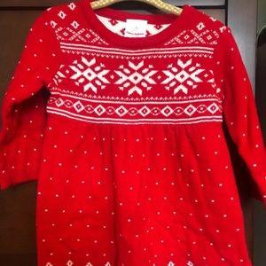 Hanna Andersson Fair Isle Sweater Dress 70 6-12M